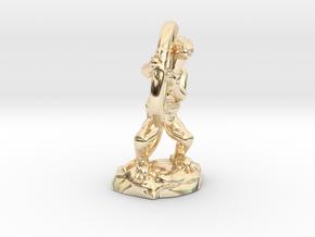 Kobold Archer Crouching  in 14k Gold Plated Brass