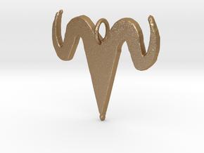 Antlers of Horns in Matte Gold Steel