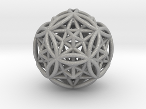 """Dodecasphere w/ Icosahedron & Star Faced Dodeca 2"""" in Aluminum"""