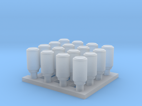 1/35 Cans Small Set MSP35-058 in Smooth Fine Detail Plastic