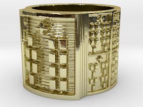 OYEKUNDI Ring Size 11-13 in 18k Gold Plated Brass: 12 / 66.5