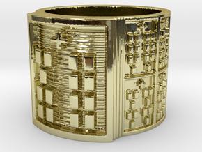 OYEKUNBIKA Ring Size 11-13 in 18k Gold Plated Brass: 12 / 66.5