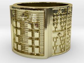 OYEKUNBATRUPON Ring Size 14 in 18k Gold Plated Brass