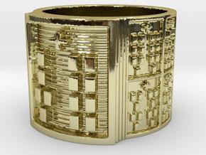 OYEKUNBIRETE Ring Size 13.5 in 18k Gold Plated