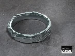 Ring - Organic Twist in Polished Bronzed Silver Steel