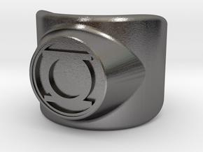 Green Lantern Ring in Polished Nickel Steel: 11.25 / 64.625