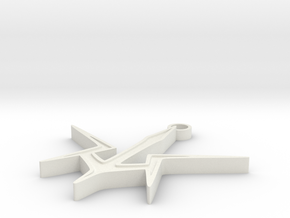 Code Geass Black Knights Pendant in White Natural Versatile Plastic