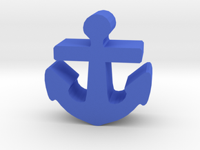 Game Piece, Anchor in Blue Strong & Flexible Polished