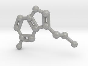 Serotonin Molecule Keychain in Aluminum