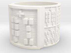 IWORIKANA Ring Size 14 in White Processed Versatile Plastic