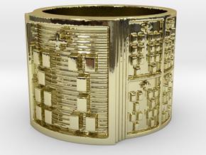 IWORIBOKA Ring Size 13.5 in 18k Gold Plated Brass