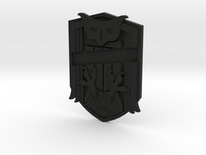 Judge Dredd Variant Badge Blank in Black Natural Versatile Plastic