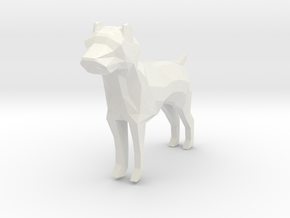Low Poly Dog in White Natural Versatile Plastic