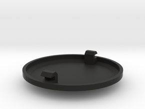 Cap for 52mm Single Enclosed Gauge Pod in Black Strong & Flexible