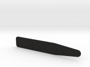 Personalised Collar Stay / Stiffener in Black Natural Versatile Plastic