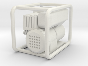 Scale 1/10 Petrol Generator in White Natural Versatile Plastic