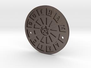 Gotham City Manhole – Sixth Scale  in Polished Bronzed Silver Steel
