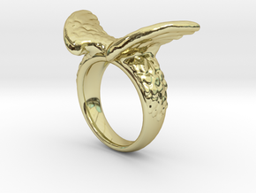 Winged Ring  in 18k Gold Plated Brass