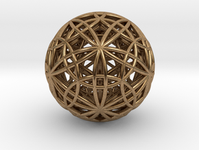 IcosaDodecasphere w/ Stellated IcosiDodecahedron 1 in Natural Brass