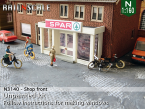 Shop front (N 1:160) in Smooth Fine Detail Plastic