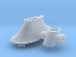 B15F Main Mast Base & Collar- Plastic in Smooth Fine Detail Plastic
