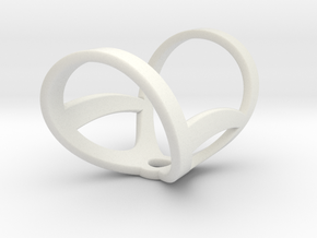 Infinity ring splint 7'' to 8'', length 32 mm in White Natural Versatile Plastic