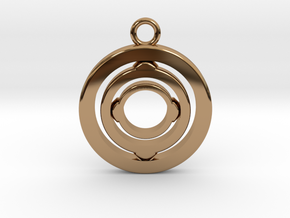 "Rotating keychain ""Orbit"" in Polished Brass (Interlocking Parts)"