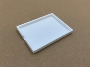 Magnetic Monster Truck Fuel Cell Receiver Box Base in White Natural Versatile Plastic: 1:10
