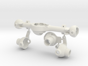 Hilux Front Axle Bottom Leaf Attacment in White Natural Versatile Plastic