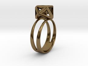 RING GEM in Polished Bronze (Interlocking Parts)