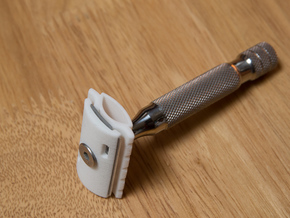 Safety Razor Head: Bullhorn 218 in White Natural Versatile Plastic