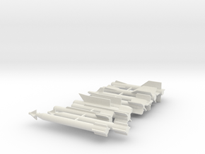 Modern Fighter jet weapons and Rockets in White Natural Versatile Plastic