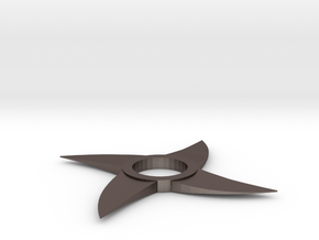 Throwing Star Spinner in Polished Bronzed Silver Steel