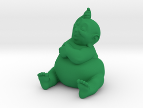 BBuddha Fprrint in Green Strong & Flexible Polished