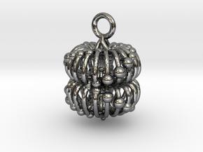 Double Torus Electromagnetic Field 23mm pendant in Fine Detail Polished Silver