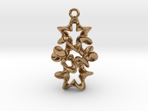 Twist And Twist Again Earring in Polished Brass
