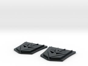 MP-10 Decepticon Trailer Logo X 2 in Black Hi-Def Acrylate