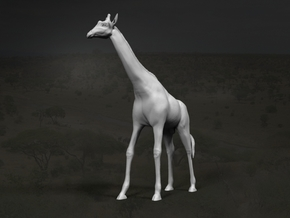 Giraffe 1:16 Standing Male in White Strong & Flexible