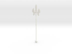 """BotW"" Royal Halberd in White Natural Versatile Plastic: 1:12"