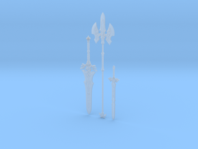 """""""BotW"""" Royal Weapons Set in Smooth Fine Detail Plastic: 1:12"""