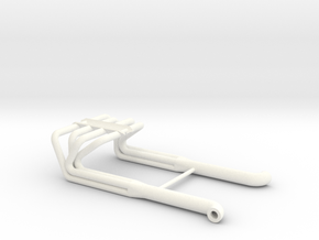 BBC 1/12 Roadster Headers  in White Processed Versatile Plastic