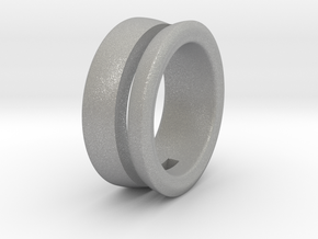 Modern+Offset Ring in Aluminum: 10 / 61.5