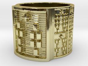 ODITAKOFEÑO Ring Size 11-13 in 18k Gold Plated: 12 / 66.5
