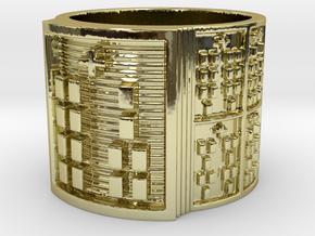 IROSOYEKUN Ring Size 11-13 in 18k Gold Plated Brass: 12 / 66.5