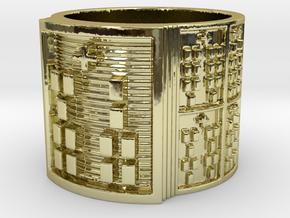 IROSOKA Ring Size 11-13 in 18k Gold Plated Brass: 12 / 66.5