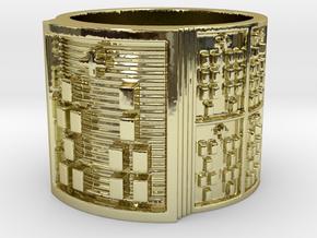 IROSOSHE Ring Size 11-13 in 18k Gold Plated: 12 / 66.5