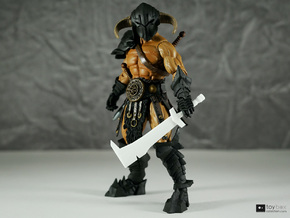 Orc Hunter sword (style 1) for Mythic Legions in White Natural Versatile Plastic