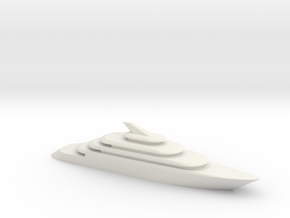 80m Yacht Model in White Natural Versatile Plastic