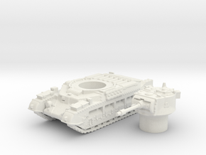 Matilda II tank (British tank)  1/100 in White Natural Versatile Plastic