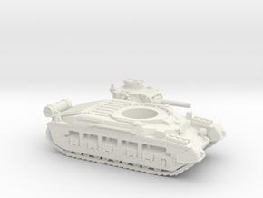 Matilda II with Fuel tank (British) 1/87 in White Natural Versatile Plastic